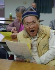 林榮宗爺爺參與合唱團課程